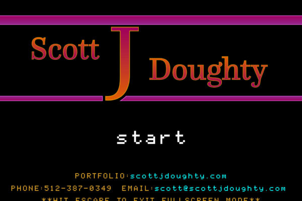 Interactive PDF resume in 8-bit style